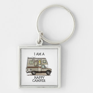 ClassC Camper RV Magnets Silver-Colored Square Key Ring