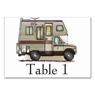 ClassC Camper RV Magnets Table Card