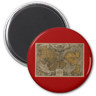 Classic 1531 Antique World Map by Oronce Fine 6 Cm Round Magnet