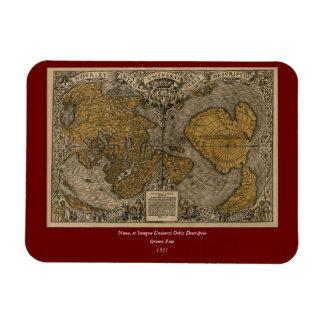 Classic 1531 Antique World Map by Oronce Fine Rectangular Photo Magnet