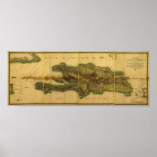 Classic 1805 Antiquarian Map of Hispaniola Poster
