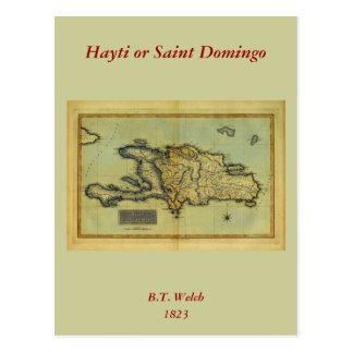 Classic 1823 Antiquarian Map of Hispaniola & Haiti Postcard