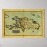 Classic 1823 Antiquarian Map of Hispaniola & Haiti Poster