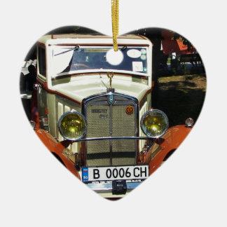 Classic 1928 Berliet. Ceramic Heart Decoration