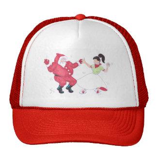 Classic 1950s Jive Dancing Christmas Trucker Hat
