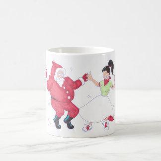 Classic 1950s Jive Dancing Christmas Mug