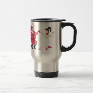 Classic 1950s Jive Dancing Christmas Coffee Mugs