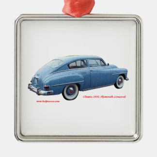Classic_1951_Plymouth_Concord_Texturized Christmas Ornament