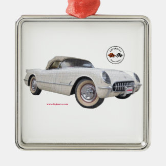 Classic_1954_Corvette_Texturized Christmas Ornament