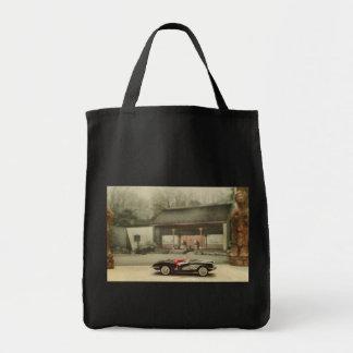 Classic 1957 Chevy Corvette Grocery Bag