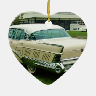 Classic 1958 Buick Limited. Ceramic Heart Decoration