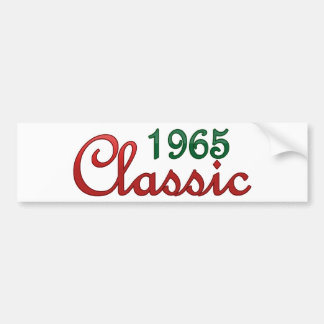 Classic 1965 car bumper sticker