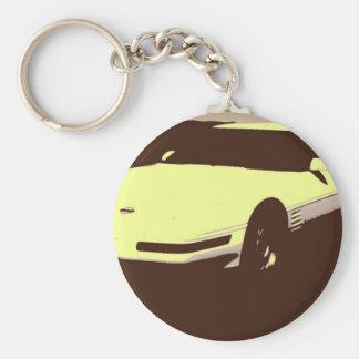 Classic 1992 Car Basic Round Button Key Ring