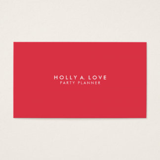 Classic #2 | Bold Red with Customizable Font | Business Card