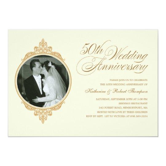 Classic th anniversary photo invitations zazzle