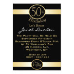 Classic 50th Birthday Party Invitations