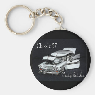 Classic 57 Chevy Bel Air Keychain