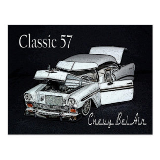 Classic 57 Chevy Bel Air Postcard