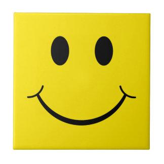 Classic 70's Happy Face Small Square Tile
