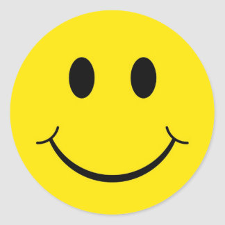 Classic 70's Smiley Happy Face Round Sticker