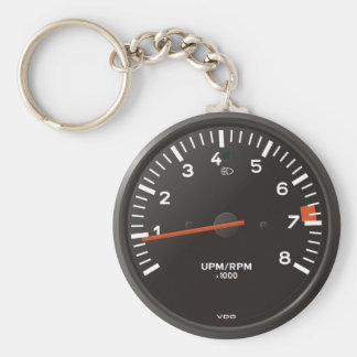 Classic 911 rev counter (old air-cooled car) basic round button key ring