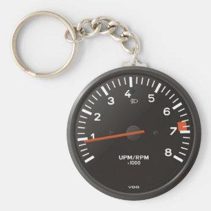 Vintage Chevy Nova SS Tachometer Photo Keychain Father/' Day Gift