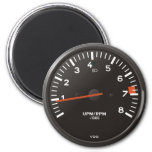 Classic 911 rev counter (old air-cooled car) 6 cm round magnet