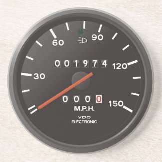 Classic 911 speedometer (old air-cooled car) coaster