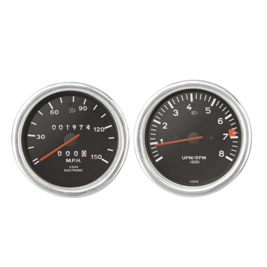 Classic 911 speedometer (old air-cooled car) cuff links