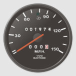 Classic 911 speedometer (old air-cooled car) round sticker