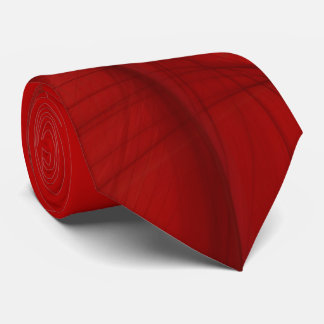Classic Abstract Elegant Red/Black Fractal Necktie