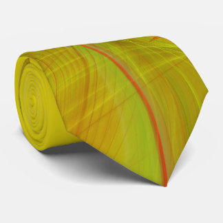Classic Abstract Elegant Red/Yello Fractal Necktie