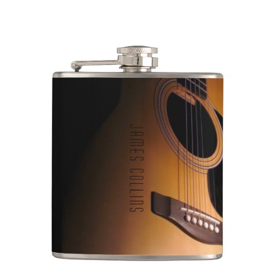 Classic Acoustic Guitar Personalised Liquor Flask