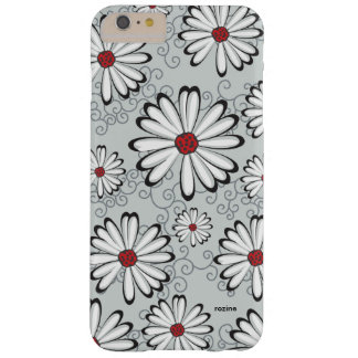 Classic Alice In Wonderland Black White Red Daisy Barely There iPhone 6 Plus Case