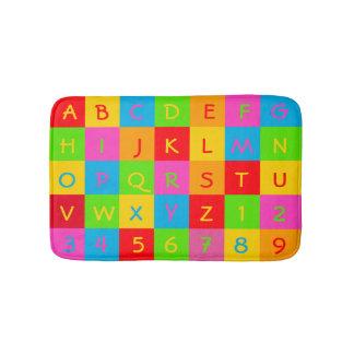 Classic Alphabet and Number Mats gargoyle font Bath Mats