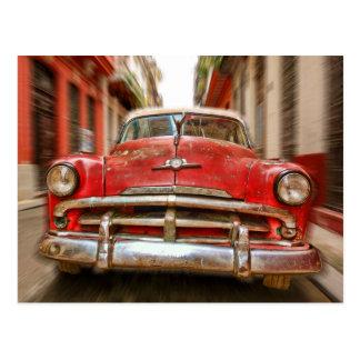 Classic American Car in streets of Havana, Cuba Postcard