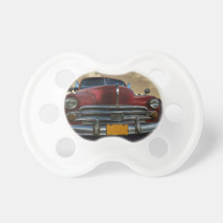 Classic American car in Vinales, Cuba Baby Pacifier