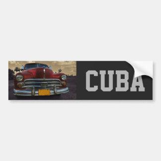 Classic American car in Vinales, Cuba Bumper Sticker