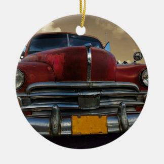 Classic American car in Vinales, Cuba Christmas Ornament
