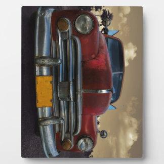 Classic American car in Vinales, Cuba Display Plaques