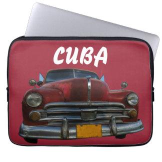 Classic American car in Vinales, Cuba Laptop Sleeve