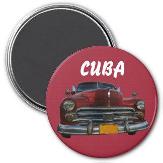 Classic American car in Vinales, Cuba Magnet