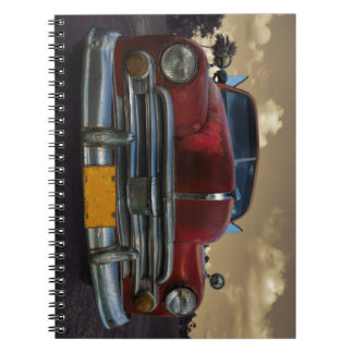 Classic American car in Vinales, Cuba Notebook