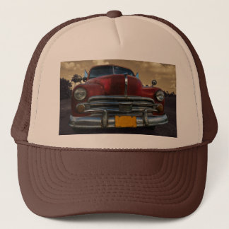 Classic American car in Vinales, Cuba Trucker Hat