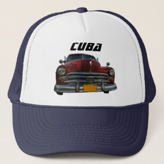 Classic American car in Vinales, Cuba Trucker Hat