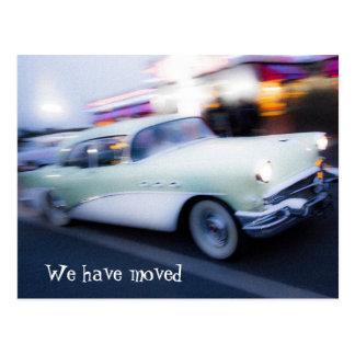Classic American Car New Address Postcard