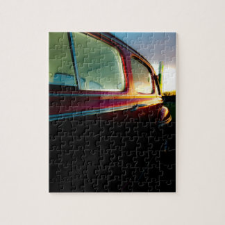 Classic American Car Puzzle/Jigsaw with Tin Jigsaw Puzzle
