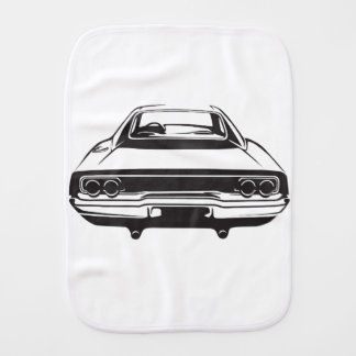 Classic American Charger Burp Cloth