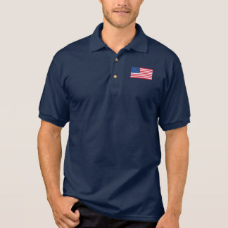 Classic American Flag Men's Polo Shirt