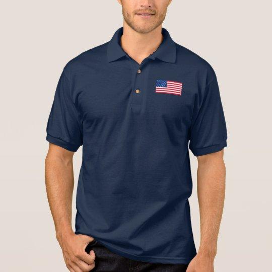 Classic American Flag Men's Polo Shirt